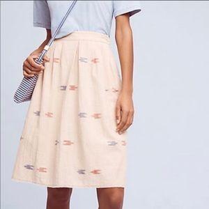 Anthropologie The Odells Berdine Ikat Skirt